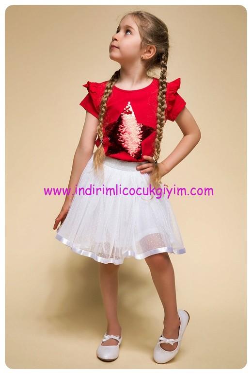 defacto 23 nisan kız çocuk tişört-etek modelleri