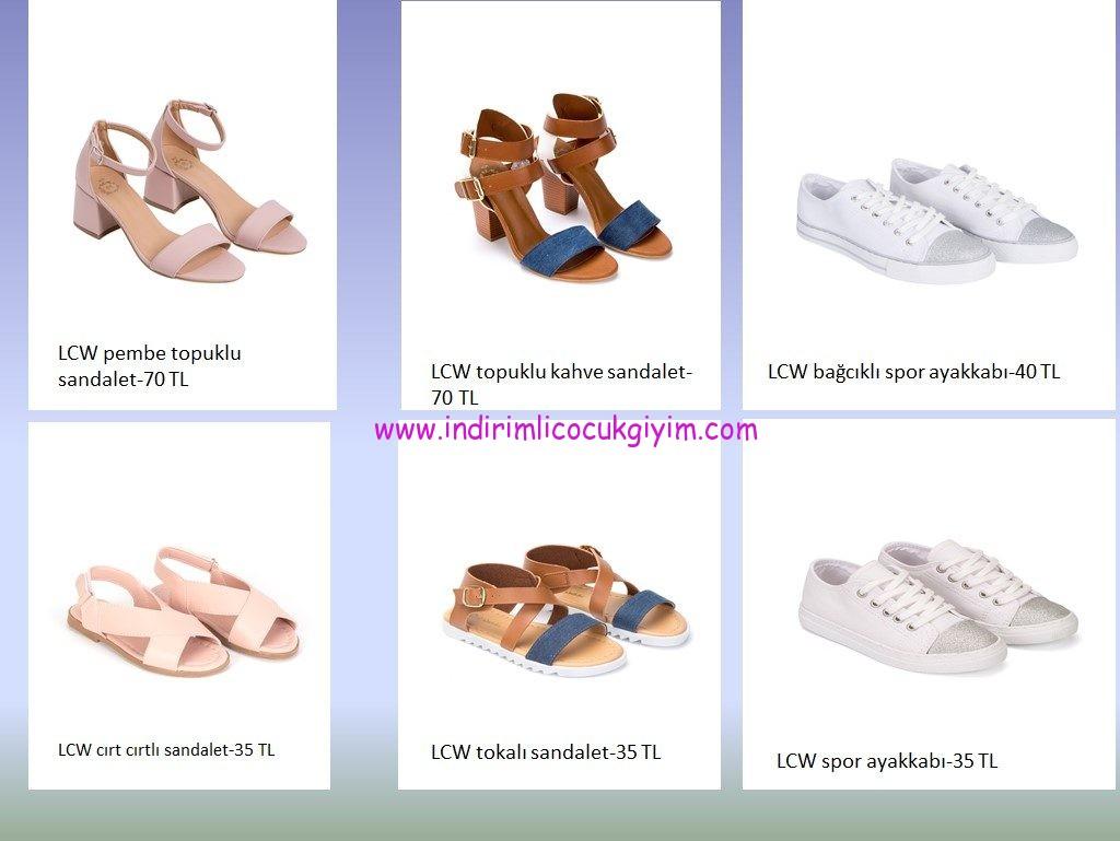 LCW anne-kız ayakkabı modelleri