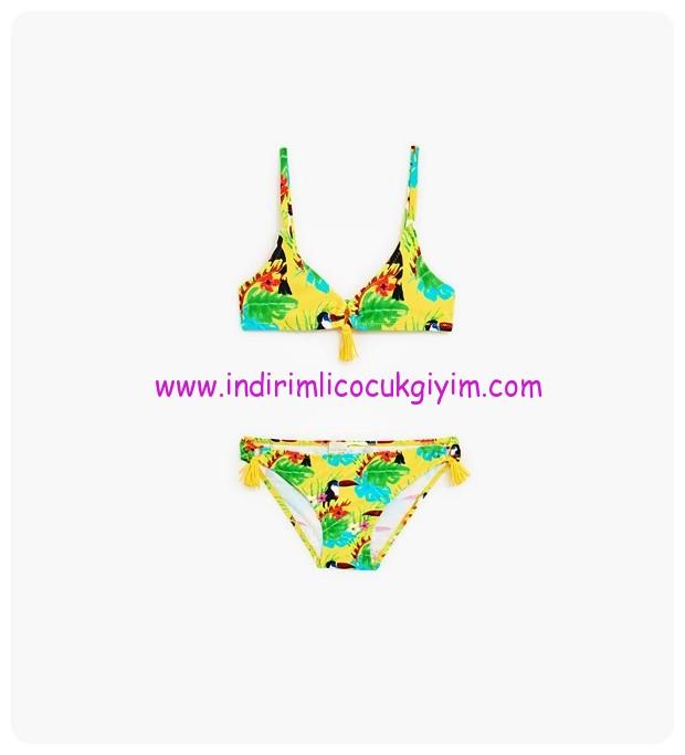 Zara tropikal desenli sarı bikini-66 TL