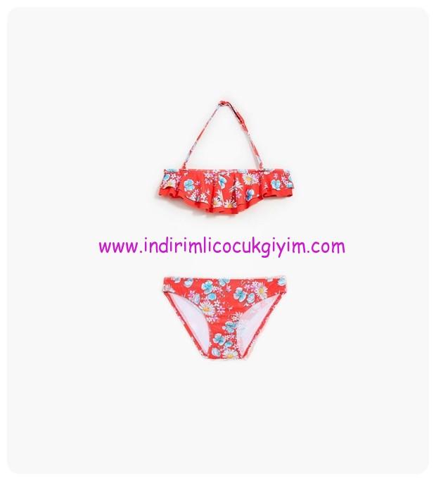 zara papatya desenli çocuk bikini-80 TL