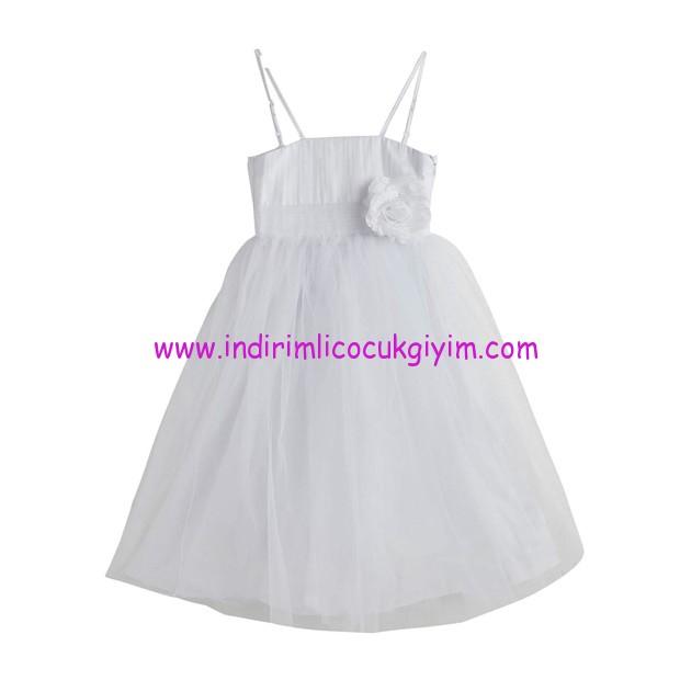 soobe kiz cocuk askili beyaz elbise-40 TL