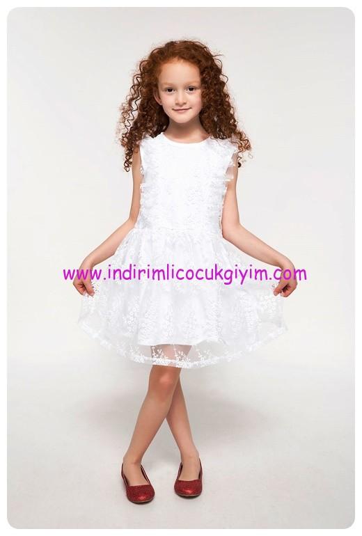 defacto firfirli dantelli beyaz elbise-50 TL